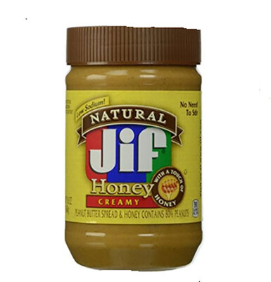 Jif/积富Natural Peanut Butter Spread and Honey