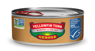 Genova Yellowfin Tuna in Water with Sea Salt罐头