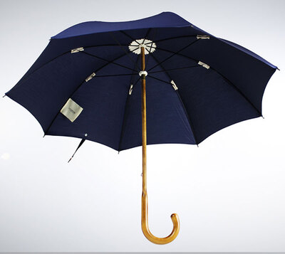 Lockwood MAPLE WOOD UMBRELLA WITH NAVY COTTON CANOPY直杆伞