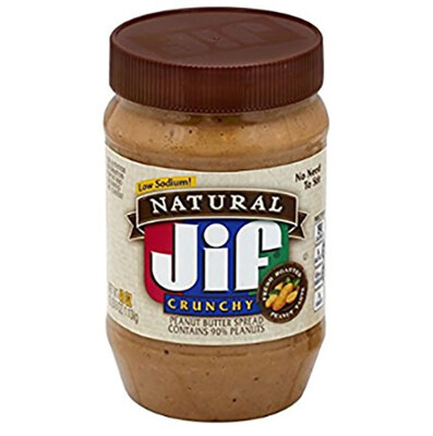Jif/积富Natural Crunchy Peanut Butter Spread