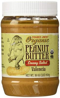 Trader Joe's Organic Peanut Butter Creamy and Salted有机有盐柔滑花生酱