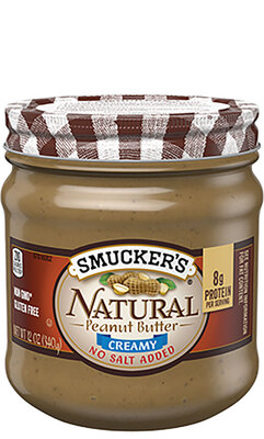 Smucker's NATURAL CREAMY PEANUT BUTTER WITH NO SALT ADDED无盐版天然花生酱