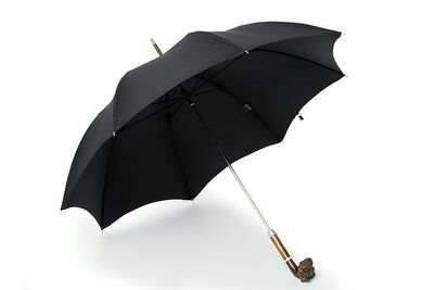 James Smith & Son City Umbrella with Carved Boxer Handle直杆伞