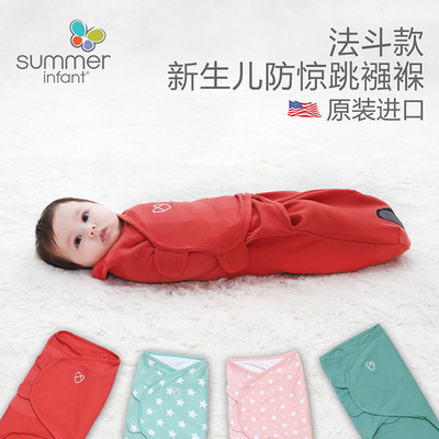 Summer Infant SwaddleMe Original Swaddle系列可爱法斗款婴儿包巾