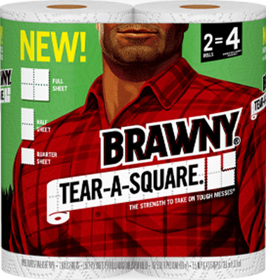 Brawny Tear-A-Square Paper Towels 2 Rolls